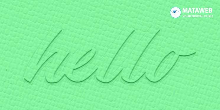 Membuat Efek Text Timbul Dalam Texture Menggunakan Photoshop