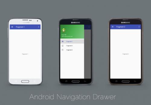 UI Tampilan android dengan fragment
