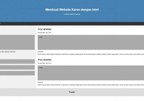 Bagaimana Cara membuat website keren dengan html